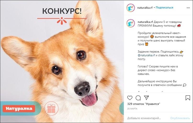 Конкурсные посты запускались в продвижение через «Промоакции» в приложении Instagram
