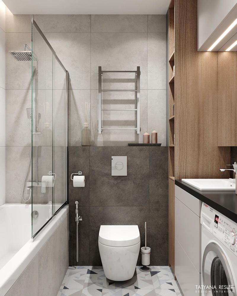 Как вам идея с переносом кухни к лоджии и мини-спальней?