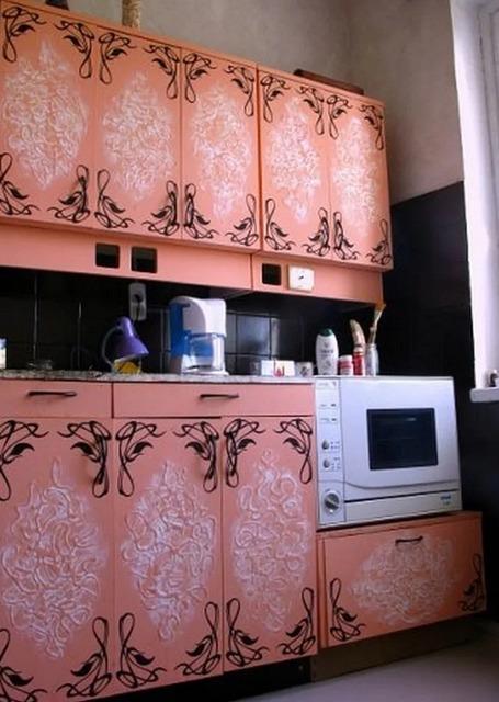 Декупаж для кухни: обновление мебели своими руками, декупаж мебели, как обновить мебель самостоятельно, идеи для кухни, идеи для интерьера,