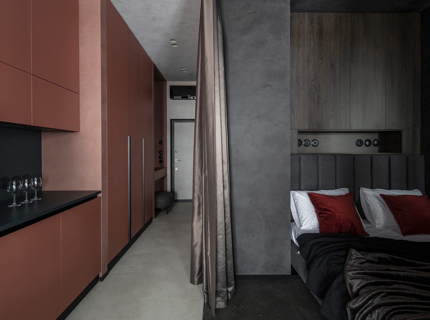 Дизайн апартаментов 45 кв.