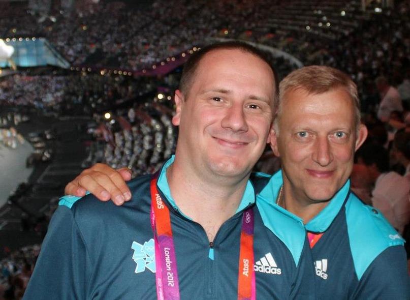 В олимпийском Лондоне с хорватским коллегой Борисом Милошевичем