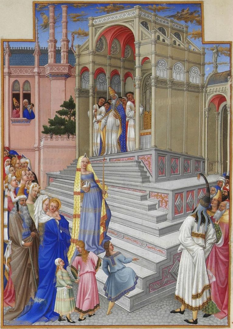 Представление Марии. Братья Лимбург 1385 -1416