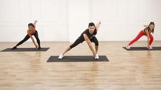 Justin and Taylor Gainor - 25-Minute Low-Impact Core and Booty Workout | Низкоударная тренировка для живота и ягодиц (умеренная сложность)