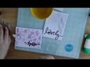 Открытка с окрашенным тиснением CAS Card Inked Embossing Folders Mimi cut