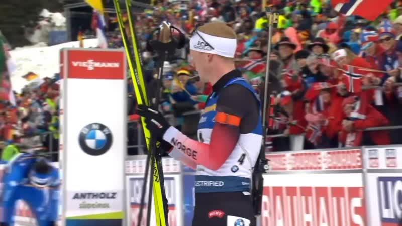 Биатлон Чемпионат мира 2020 Антхольц Антерсельва Мужской Масс старт 15 км Масс старт мужчины 23 22 2020 Евровижн