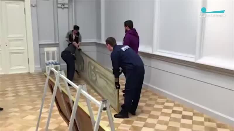 Подготовка к выставке «Братья Морозовы» в Эрмитаже