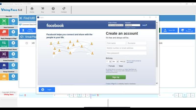 Обзор Viking Facebook Tool