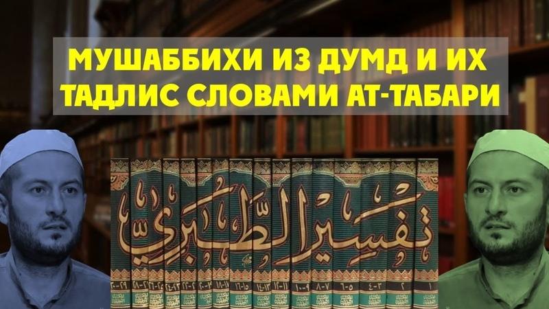 Мушаббихи из ДУМД делают тадлис слов ат Табари в атрибуте истиуа
