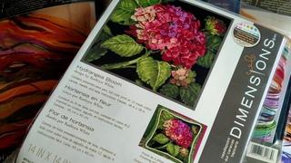 48. Снова гобелен?!?  // Hydrangea Bloom, Dimensions // Изучаем схему. Старт. Первые впечатления.