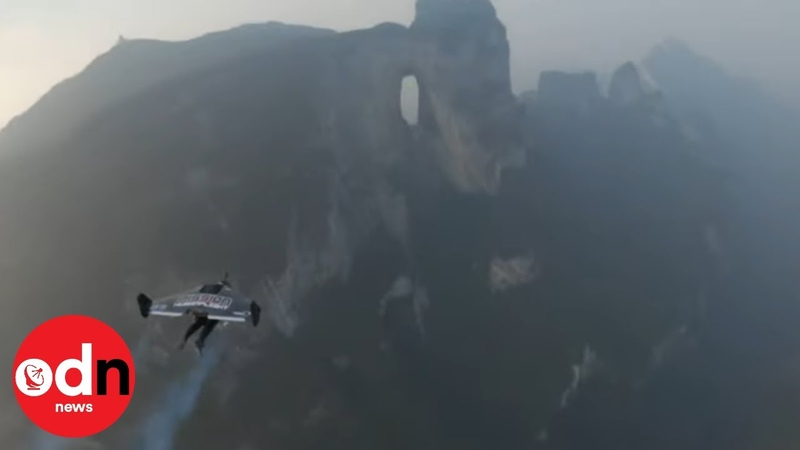 Daredevils Fly Through World's Highest Natural Cave on Jet-Powered Wings
