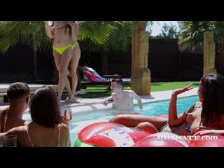 PrivateStars Private Anastasia Brokelyn, Anya Krey, Scarlet Domingo, Talia Mint Orgy In The Pool 2020 Group Sex, Orgy, Blowjob,