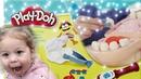 Изучаем набор play doh стоматолог Ева врач, Фло пациент плей до Пластилин Лечим кариес