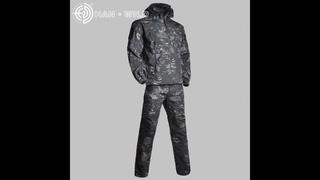 Мужская камуфляжная куртка gear, тактическая камуфляжная ветровка из материала софтшелл, водонепроницаемая военная куртка и