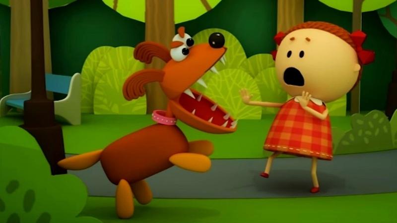Аркадий Паровозов спешит на помощь Почему нельзя гладить незнакомых собачек мультфильм детям