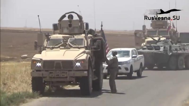«Кто вас сюда звал!» — Армия России заблокировала военных США в Сирии и поставила их на место