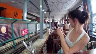 🍳 🍔 🍟  Прага. Ресторан с паровозиками. Пиво вагонами (Prague Vytopna)