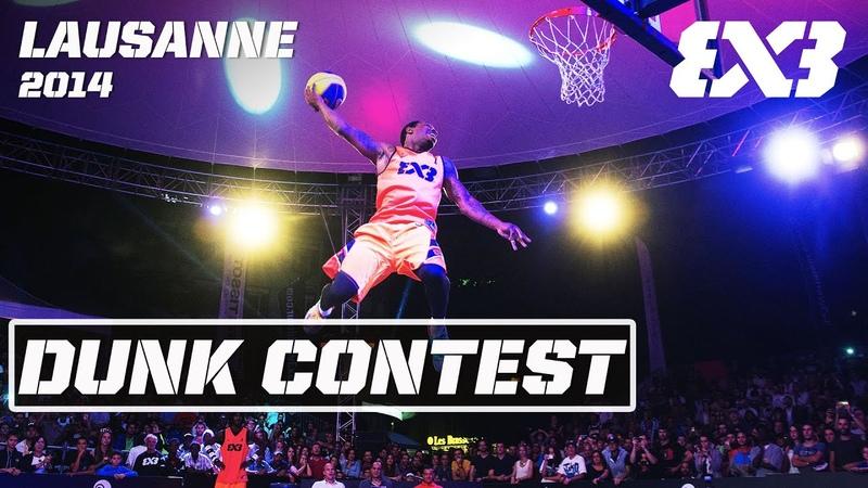 Shortest Pro Dunker dunking over Big Man Re Live Dunk Contest FIBA 3x3 Lausanne 2014