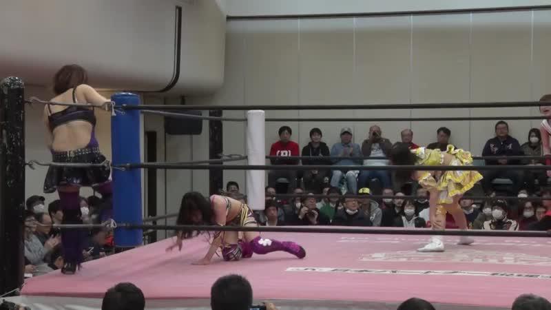 Maki Ito Raku vs Pinano Pipipipi Yuna Manase TJPW Tokyo Joshi 2019 Winter ~ High Score ~