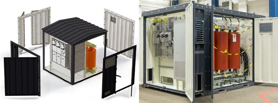 Модульные подстанции комплектуются строго по техническому запросу клиента