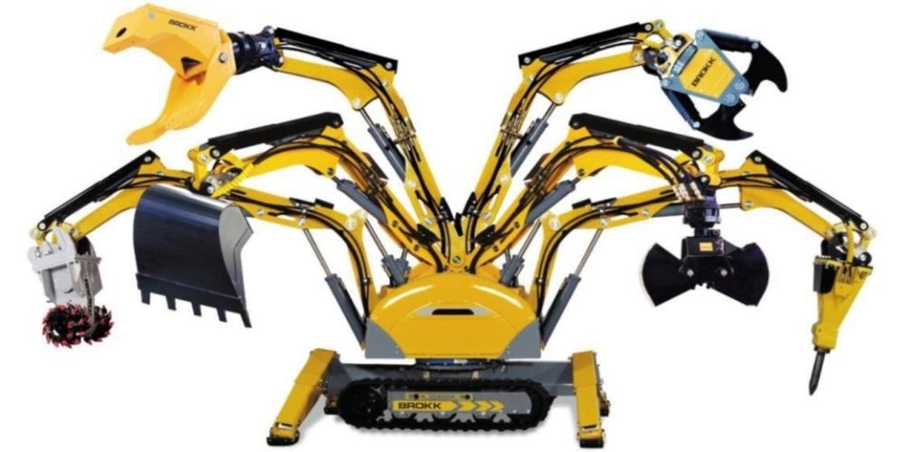 Навесное оборудование для демонтажных роботов Брокк